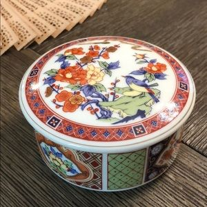 Vintage Japan Transferware Trinket Jewelry Box